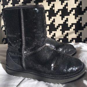 Black sequins UGG boots